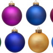 Collection of colored christmas ornament . Isola — Stock Photo #2007583