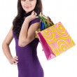 Stock Photo: Beautiful woman with shoping bags.