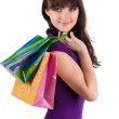 Beautiful woman with shoping bags. — Stock Photo #2008516