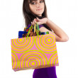 Stock Photo: Beautiful woman with shoping bags