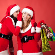 Stock Photo: Christmas gossip