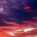 The sunset sky — Stock Photo
