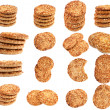 Collection cookies with a nut crumb. - Stock Photo