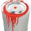 Tin of a red paint. — Stock Photo #2012707