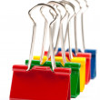 Group of multicolor paper clips isolated — Stock Photo
