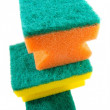 Three colorful sponges. - Stock Photo