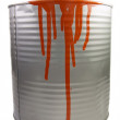 Tin of a red paint. — Stock Photo #2013149