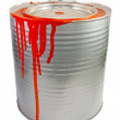 Tin of a red paint. — Stock Photo #2013164