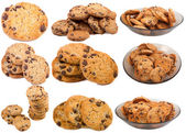 Collection Chocolate Chip Cookies. — Stock Photo