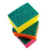 Three colorful sponges. — Stock Photo
