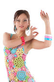 Young woman dancing — Stock Photo