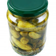 Jar with cucumbers. - Stock Photo