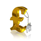 Gold_pound_home — Stock Photo