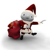 Cute Dancing Santa — Stock Photo