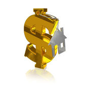 Gold_dollar_home — Stock Photo