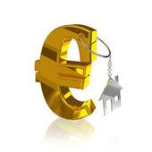 Gold_euro_home — Stock Photo