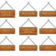 Wooden tags set 2 — Stock Photo