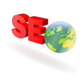 SEO_globe — Stock Photo