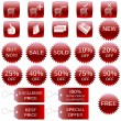 Royalty-Free Stock Vektorfiler: Red shopping icons