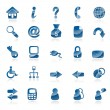 Royalty-Free Stock Vector Image: Blue web icons