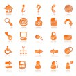 Orange web icons - Stock Vector
