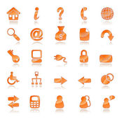 Orange web icons — Stock Vector