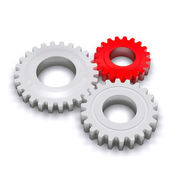 Plastic gears 2 — Stock Photo