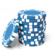 Blue gambling — Stock Photo #1458826