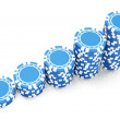 Stock Photo: Blue gambling