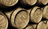 Wine barrels in a cellar — Stock Photo