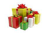 Group coloured gifts — Foto Stock