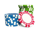 Gambling chip — Stock Photo