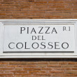 Stock Photo: Colosseum plate