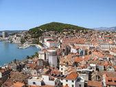 Split city view — Stock Photo