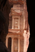 Beautiful view of Treasure in Petra — Stock Photo