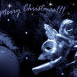 Christmas decoration.Silver angel - Stock Photo