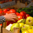 Stock Photo: Woman at the market buying fruit and veg