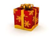 Red gift box — Stok fotoğraf