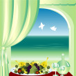 View from the window — Stock Vector