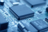 Futuristic technology - image of a cpu — Stock Photo