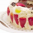 Foto Stock: Delicious layer cake with strawberries