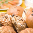 Delicious home made bread rolls — Stock Photo