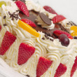 Stock Photo: Delicious cream cake with strawberries