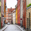 Modern day european cobble stone street - Stock Photo