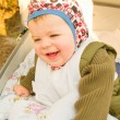 Modern lifestyle - Cute baby boy happily — Foto Stock