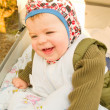Modern lifestyle - Cute baby boy happily — Foto de Stock