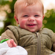 Happy baby boy laughing with joy — Stock Photo