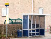 A modern bus stop in Denmark — Stock Photo