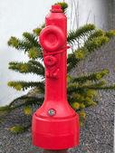 Lucha contra el fuego - rojo fuego hidrante — Foto de Stock