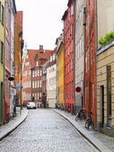 Modern day european cobble stone street — Stock Photo